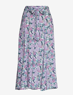 Lion Skirt - do kolan & midi - vintage flower print