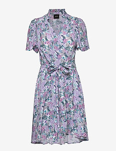 Taylor Dress - wrap dresses - vintage flower print