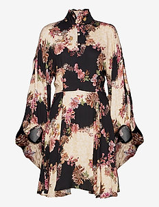 Alessia Dress - korte kjoler - flowerprint black