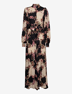 Abra Dress - maxikjoler - flowerprint black