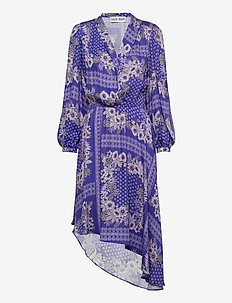 Regina Dress - midi kjoler - flowerprint purple