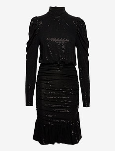 Saffron Dress - midi kjoler - black sequin