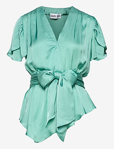 RIVER TOP - short-sleeved blouses - mint