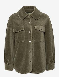Lumber Jacket - wolljacken - green