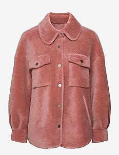 Lumber Jacket - ulljakker - soft pink