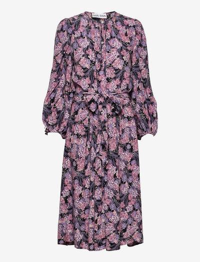 RENATE DRESS - hverdagskjoler - 146 purple floral