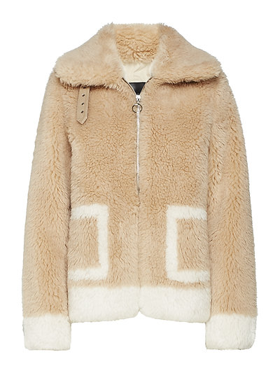 Teddy jacket - HONEY CAMEL