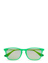 CHRIS JUNIOR - GREEN FLUO TRASP RUBBER-LIGHT GREEN MIRROR GREEN