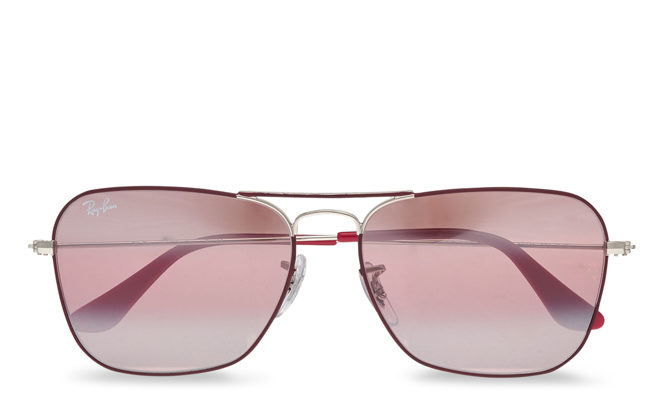Ray-Ban CARAVAN - SILVER ON TOP MATTE BORD