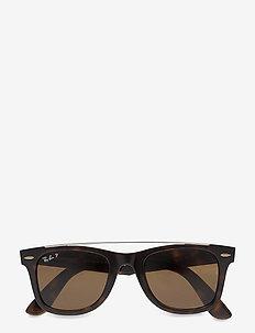 0RB4540 - okulary przeciwsłoneczne w kształcie litery d - havana