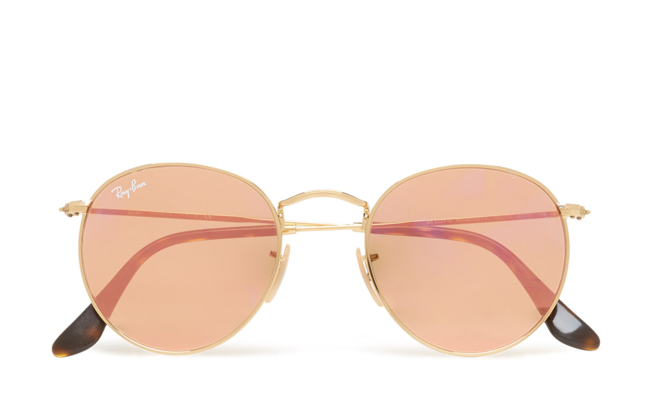 Round Metal (Shiny Gold/copper Flash) (162 €) - Ray-Ban ...