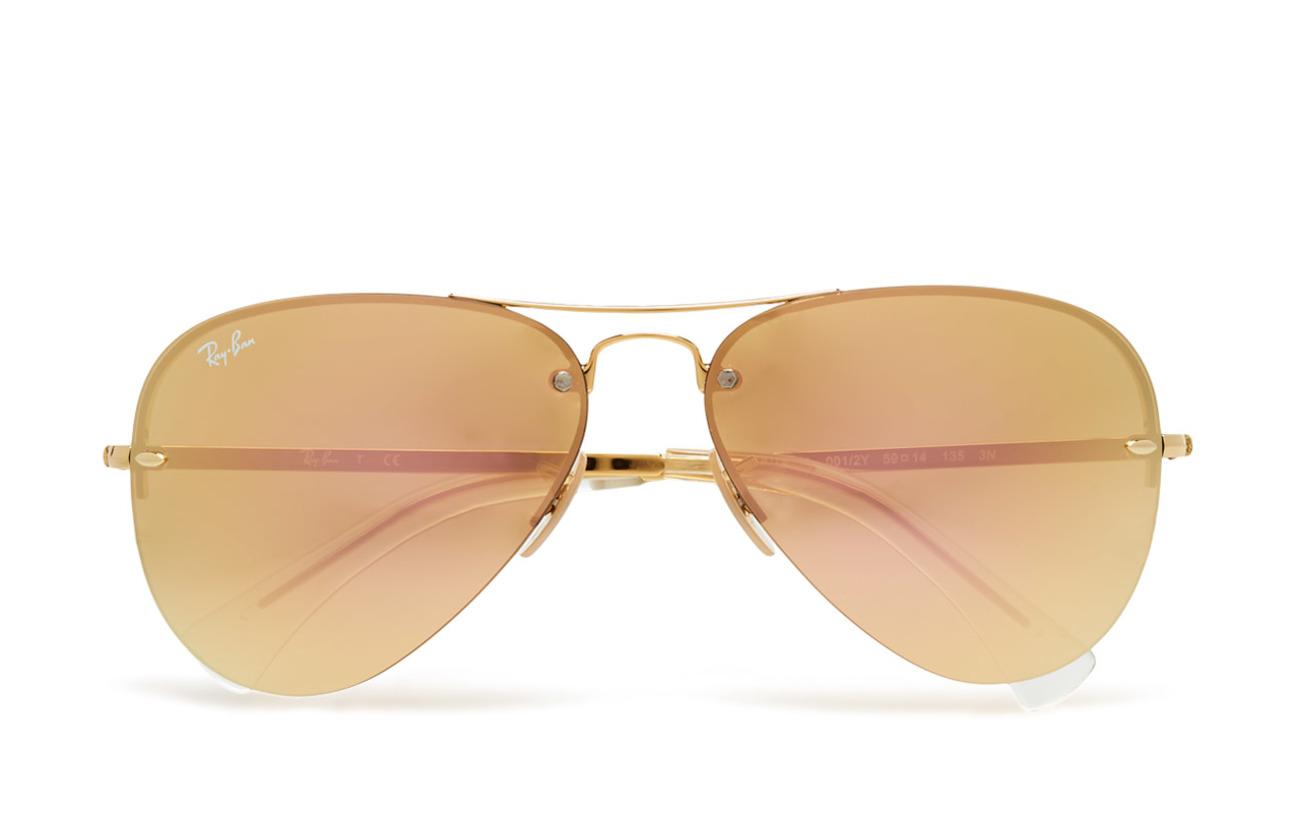 Ray-Ban Aviator - GOLD-LIGHT BROWN MIRROR PINK