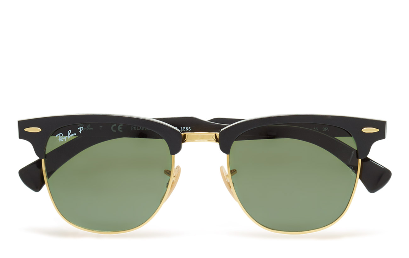 178a9544f8 official store ray ban clubmaster aluminum black 14b30 f407b