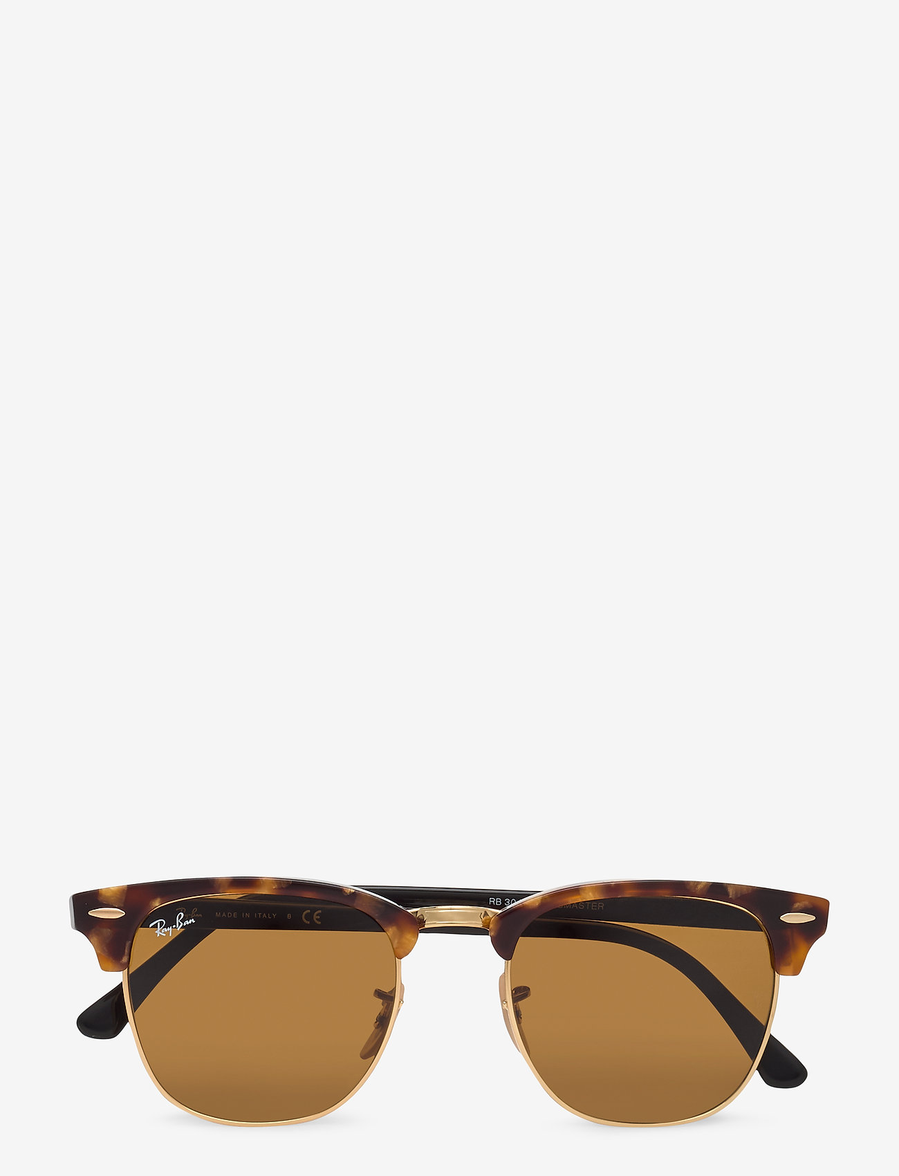 Ray-Ban - CLUBMASTER - d-shaped - spotted brown havana-brown - 0