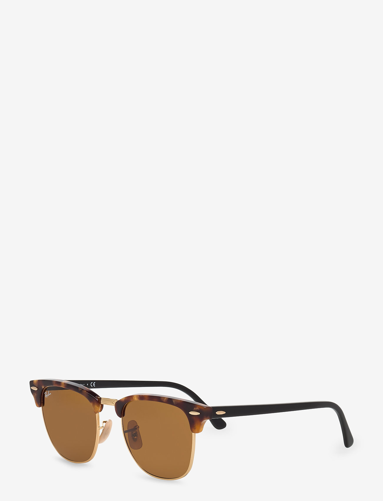 Ray-Ban - CLUBMASTER - d-shaped - spotted brown havana-brown - 1