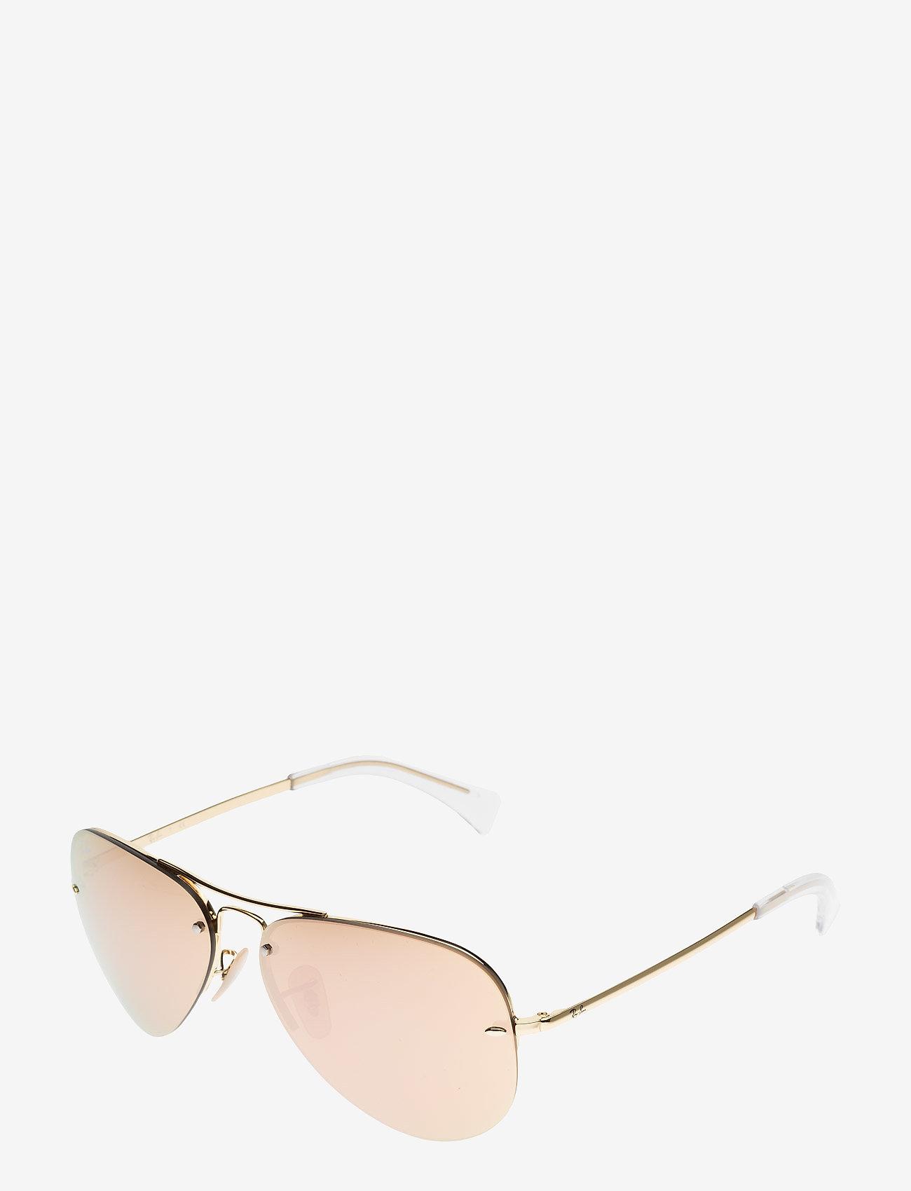 Ray-Ban - Aviator - aviatora stila - gold-light brown mirror pink - 1