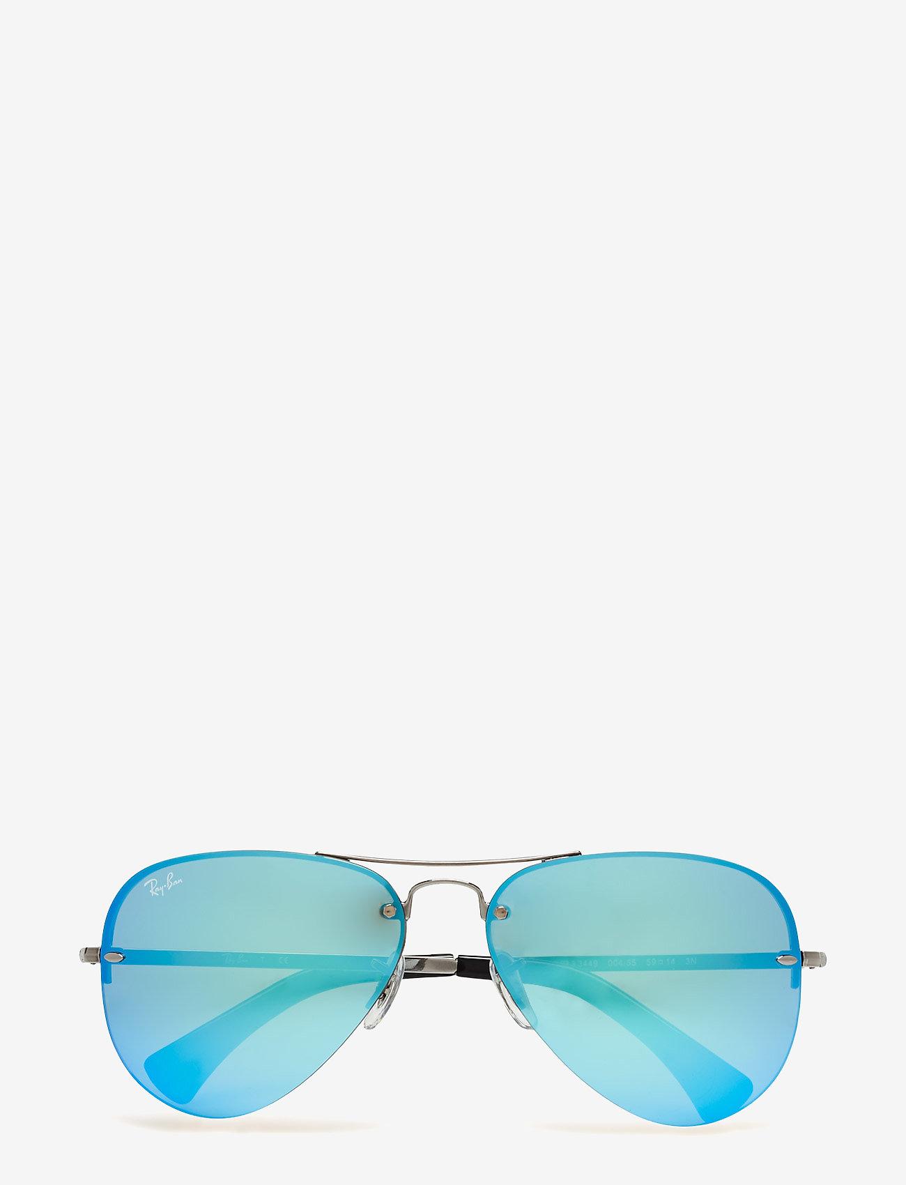 Ray-Ban - Aviator - piloten zonnebril - gunmetal-light green mirror blue - 0