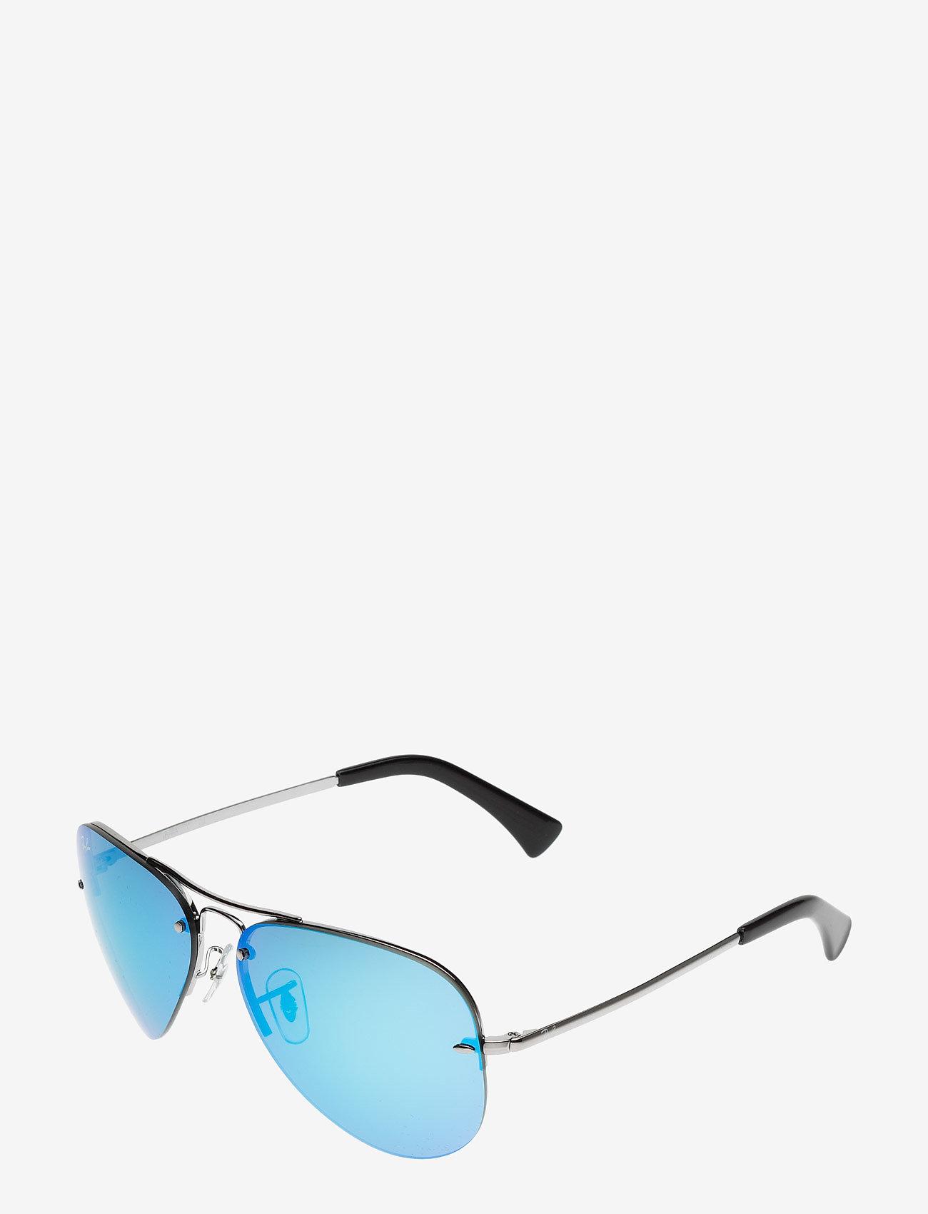 Ray-Ban - Aviator - piloten zonnebril - gunmetal-light green mirror blue - 1