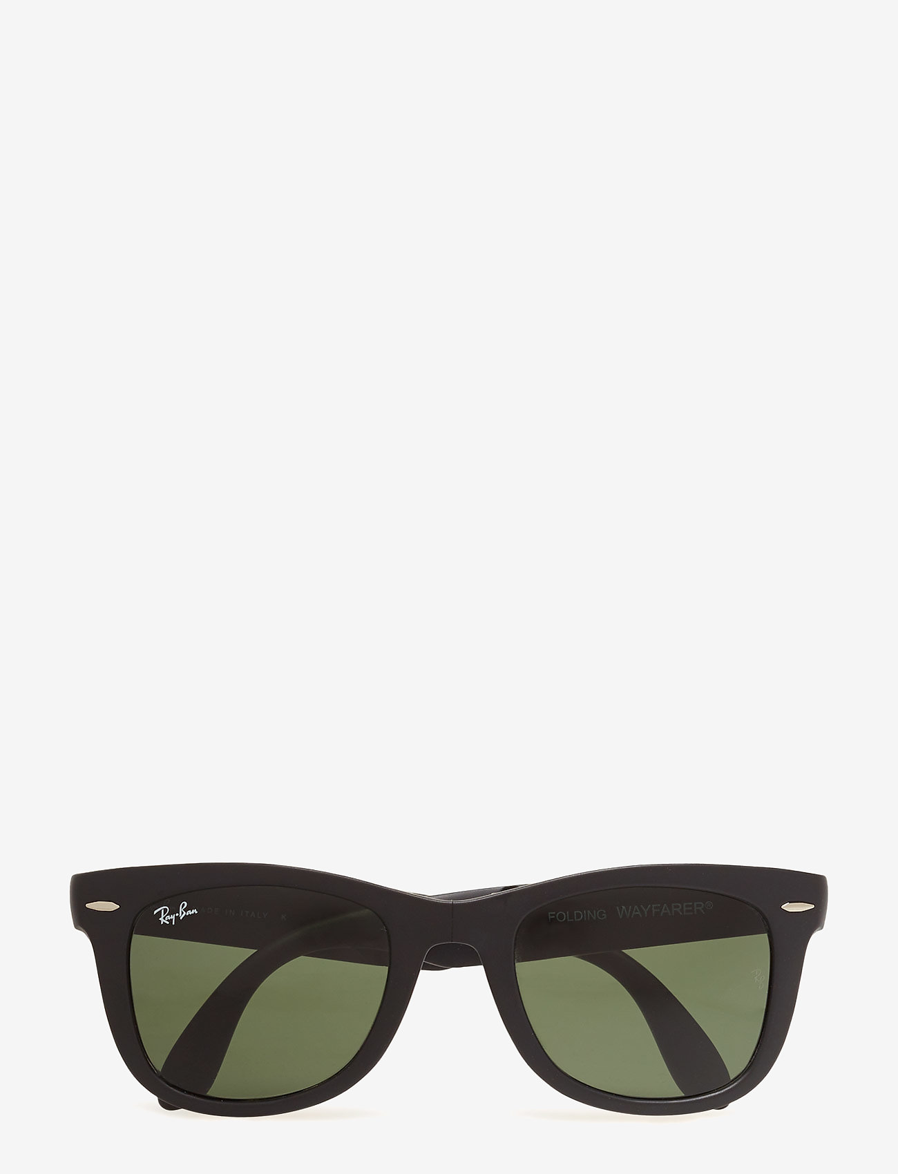 Ray-Ban - FOLDING WAYFARER - d-shaped - matte black-crystal green - 0
