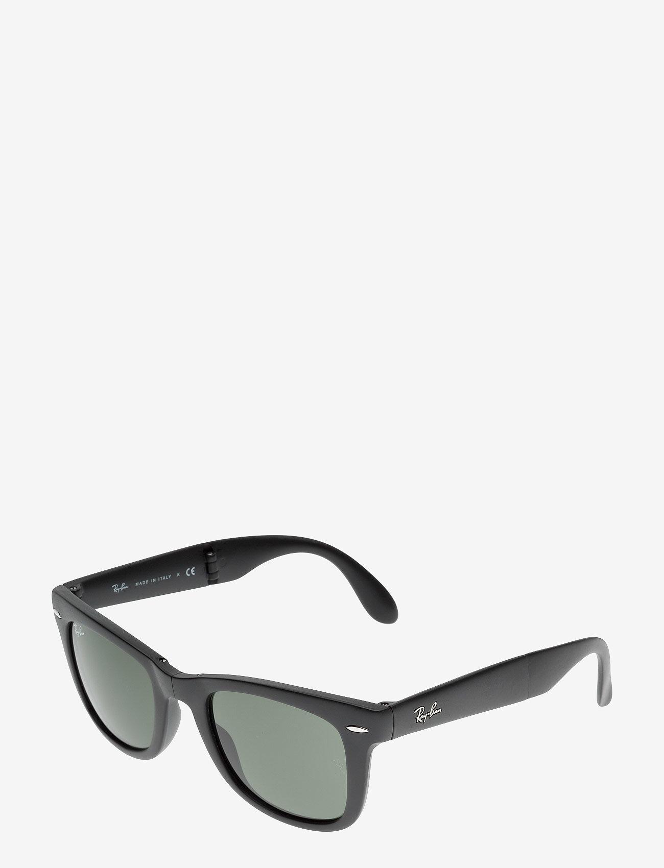 Ray-Ban - FOLDING WAYFARER - d-vormige zonnebril - matte black-crystal green - 1