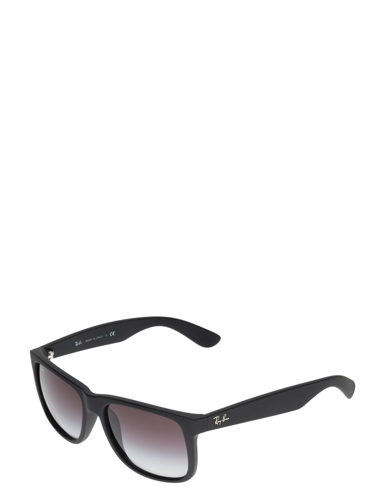cfbe35fa1bc0 RUBBER BLACK Ray-Ban Justin wayfarer solbriller for herre - Pashion.dk