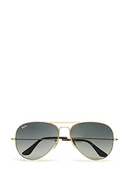 AVIATOR LARGE METAL - GOLD-LIGHT GREY GRADIENT DARK GREY