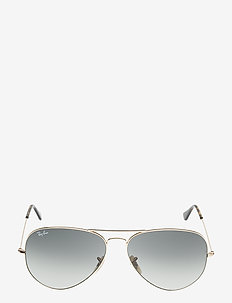 AVIATOR LARGE METAL - pilot - gold-light grey gradient dark grey