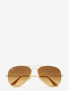 AVIATOR LARGE METAL - pilottilasit - matte gold