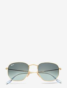 HEXAGONAL - okulary przeciwsłoneczne w kształcie litery d - gold