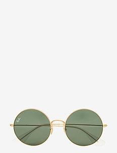 Round frame - okrągłe okulary przeciwsłoneczne - rubber gold