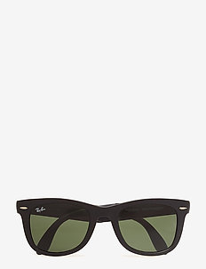 FOLDING WAYFARER - d-shaped - matte black-crystal green