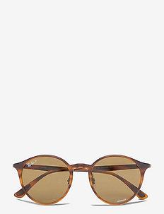 0 - okrągłe okulary przeciwsłoneczne - brown