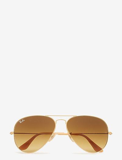 AVIATOR LARGE METAL - piloten zonnebril - matte gold