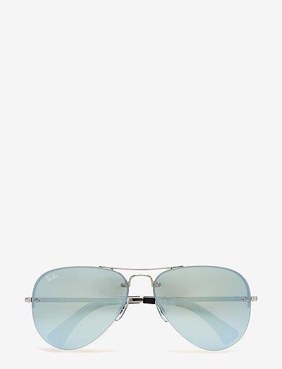 Aviator - piloten zonnebril - silver-green mirror silver