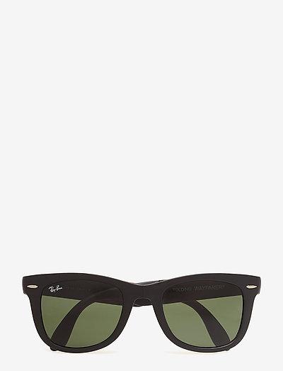 FOLDING WAYFARER - d-shaped - matte black-crystal green