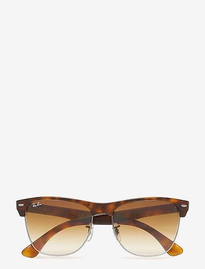 CLUBMASTER OVERSIZED - d-vormige zonnebril - demi shiny havana/gunmetal-crystal brown gradient