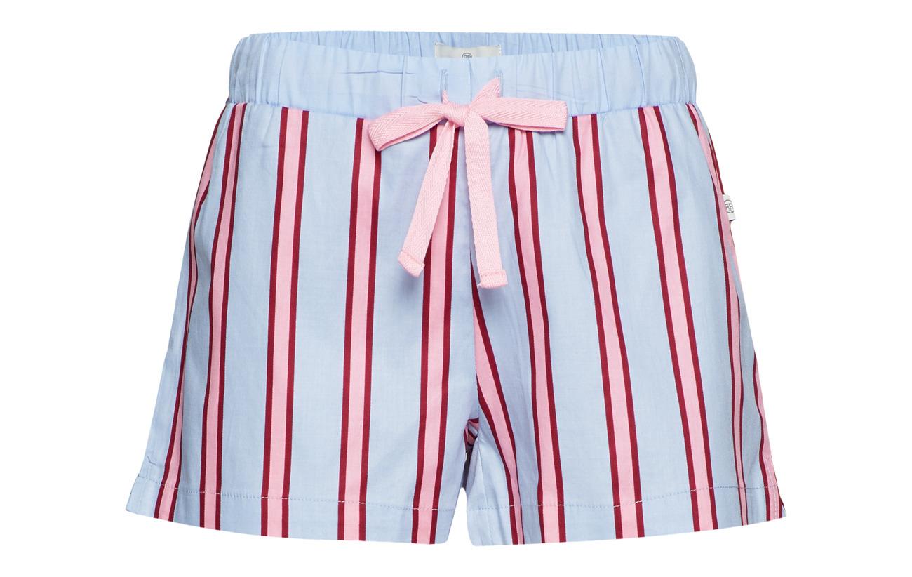 Alanis Pj Rayville Shorts Maroon Shadow Coton 100 Stripe Pink fFq1xqwdU