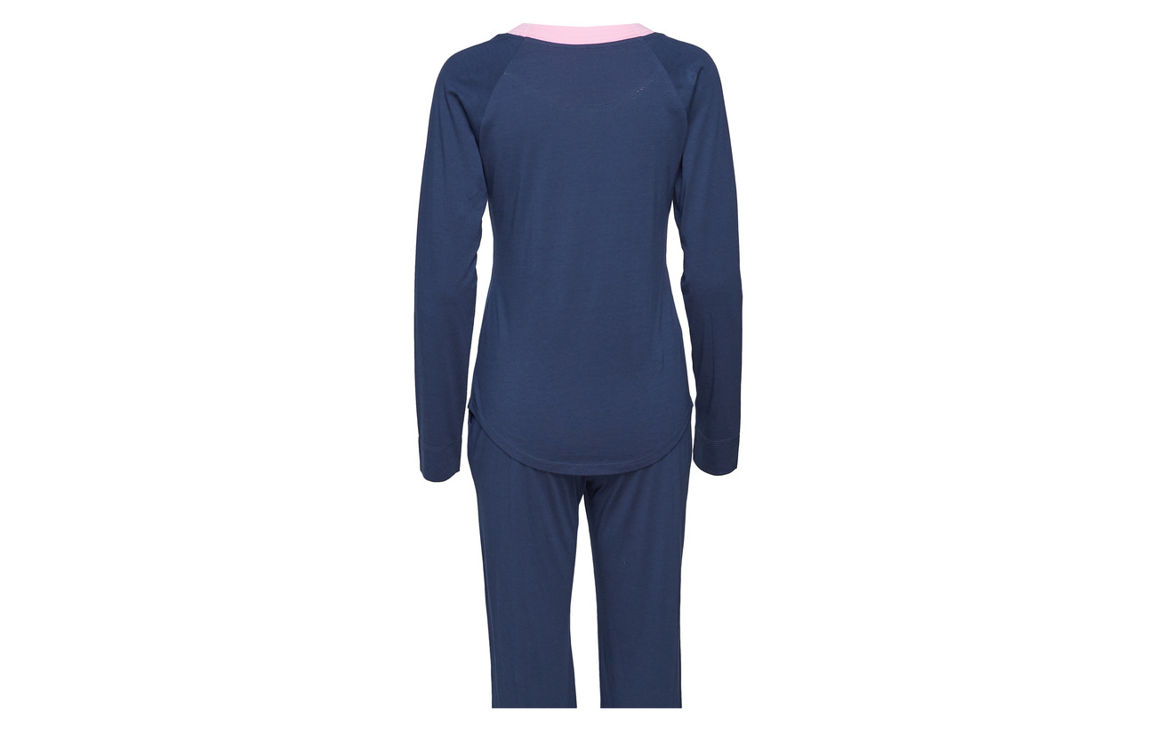 Coton Rayville Pyjamas Blue Modale Navy Solid Tina 50 00WqHA