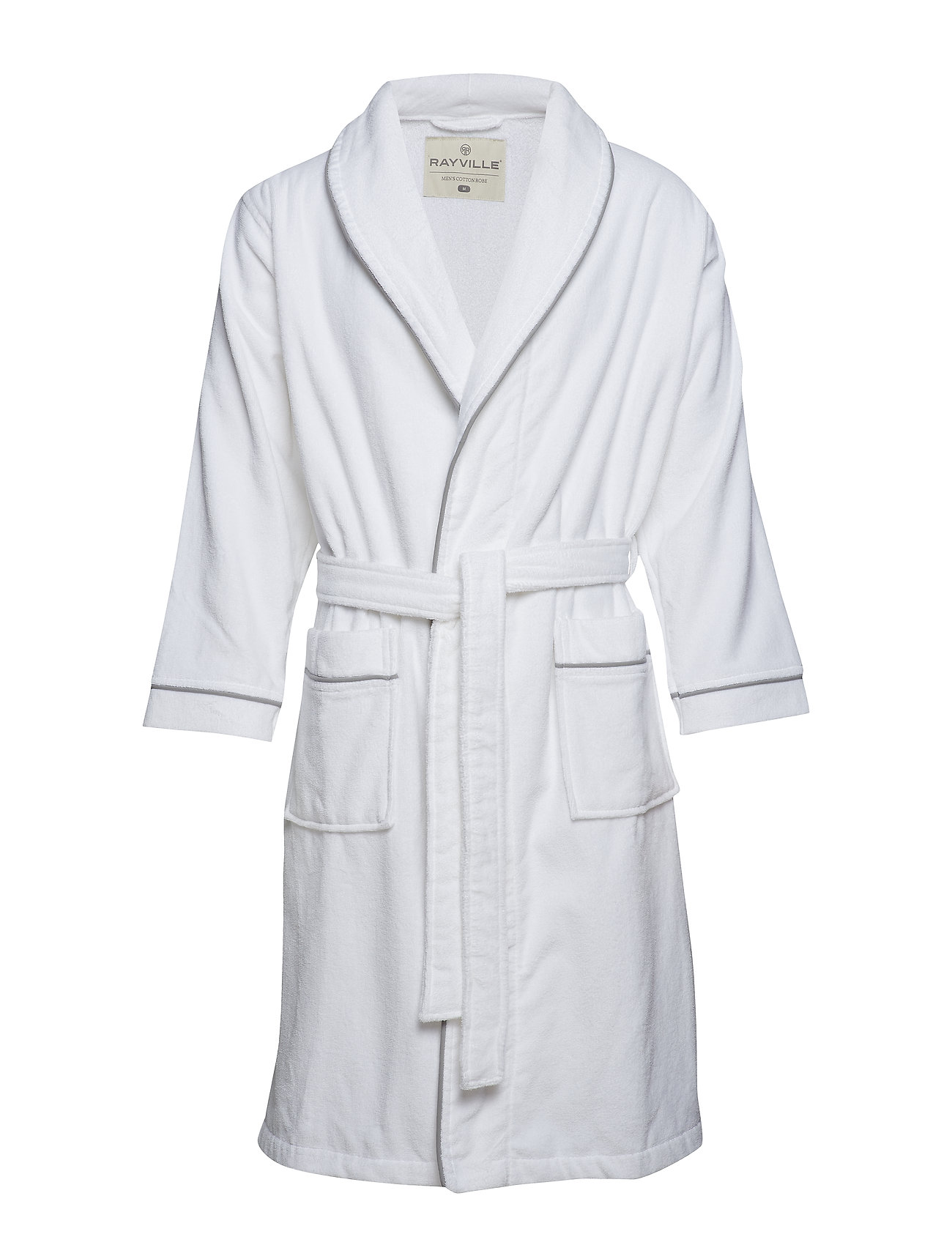 Rayville Paul Bathrobe Solid - snow white - S