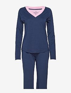 Tina Pyjamas Solid - NAVY BLUE