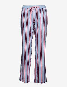 Chrissie PJ Pant Shadow Stripe - PINK / MAROON