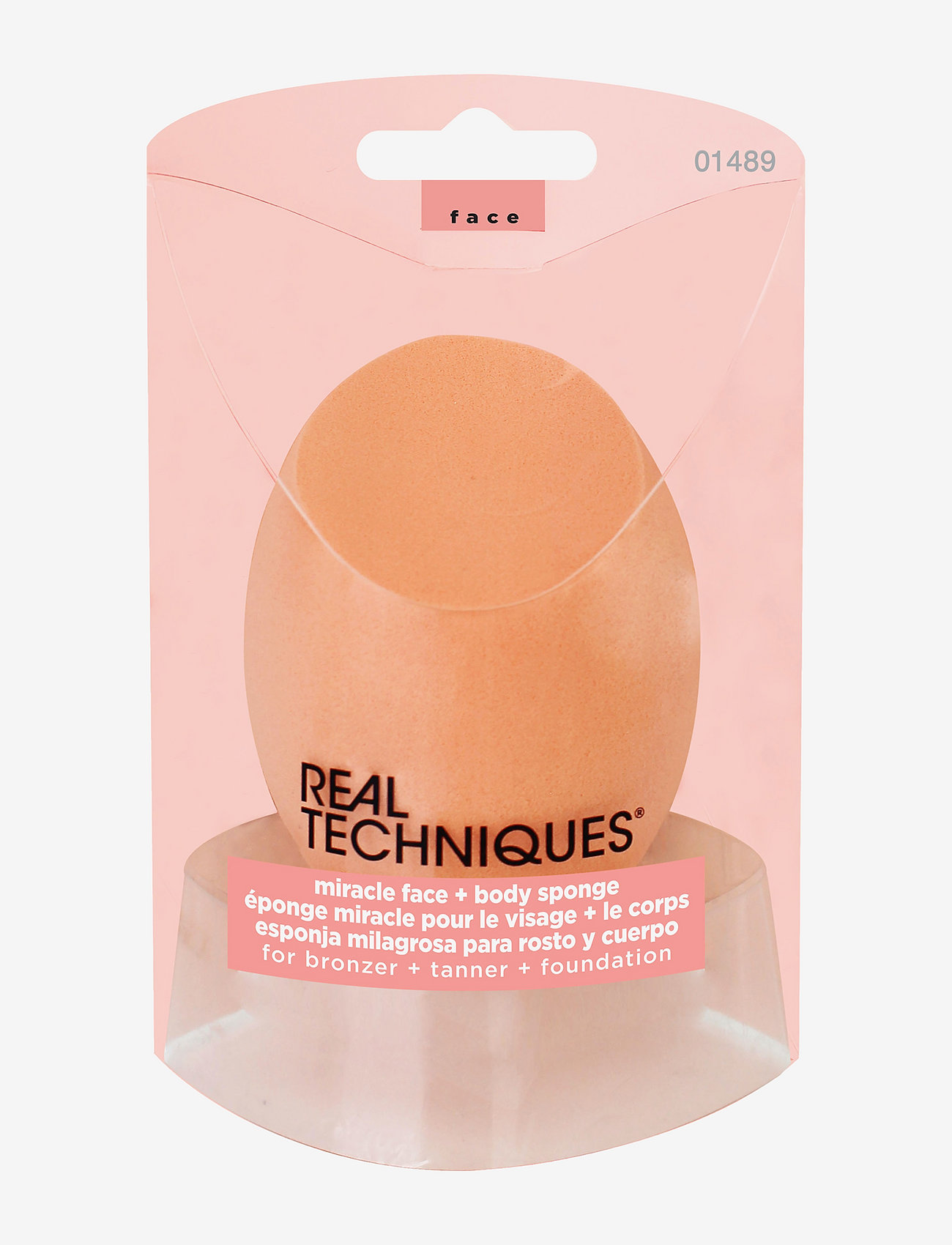 Real Techniques - Real Techniques Miracle Body Complexion Sponge - svampe - orange - 1