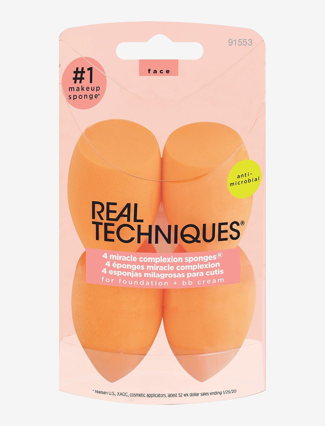 Real Techniques - Real Techniques 4 Miracle Complexion Sponges - svampe - orange - 0