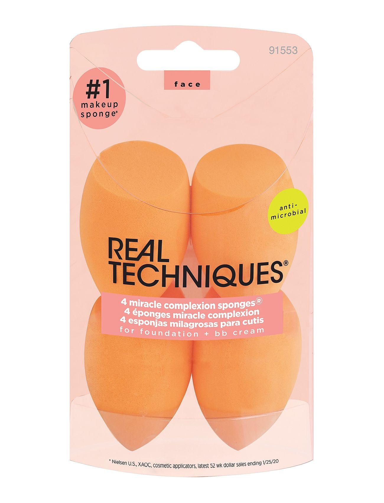 Image of Real Techniques 4 Miracle Complexion Sponges Beauty WOMEN Makeup Sponges & Applicators Orange Real Techniques (3406153229)