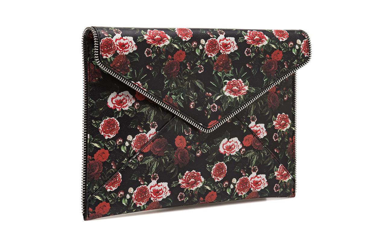 Leo Cuir Minkoff Silver Material Rebecca Clutch Antique Main 100 Floral Rose Fvw5q