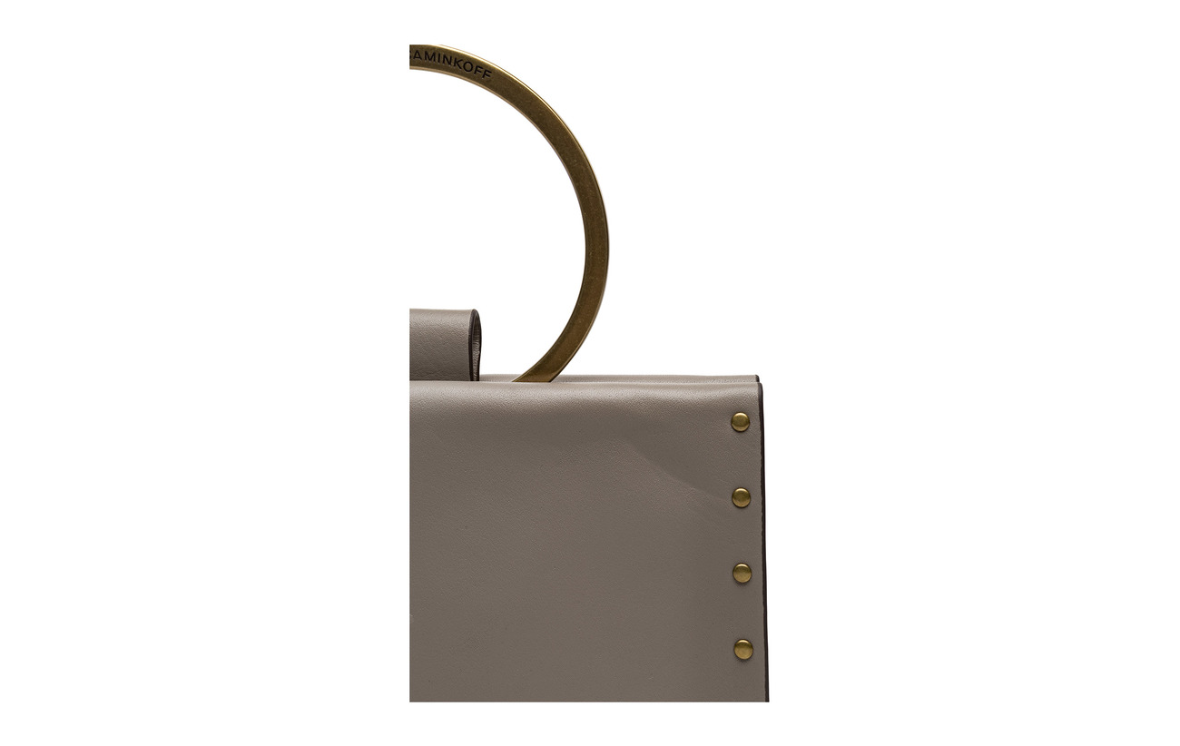 Crossbody Ring Cuir Material Rebecca Minkoff Main Brass Taupe 100 Antique U4Ex1qn