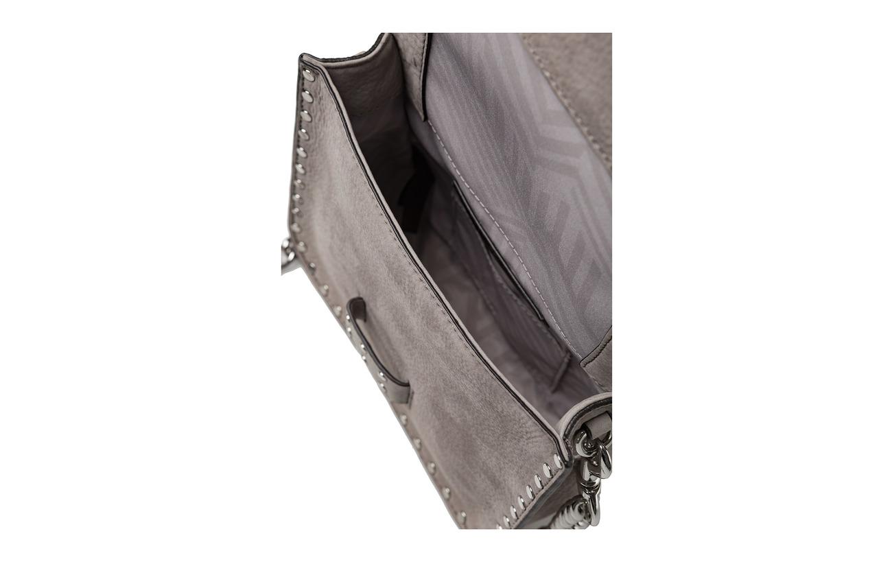 Polyester Midnighter Messenger Minkoff Rebecca 100 020 Silver Équipement Doublure Grey Intérieure Mini Cuir FqHFxvR