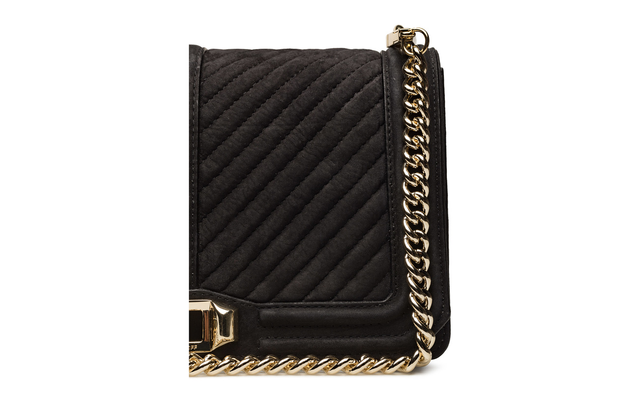 Love Crossbody Cuir Black Gold Rebecca Minkoff 100 7TqW6