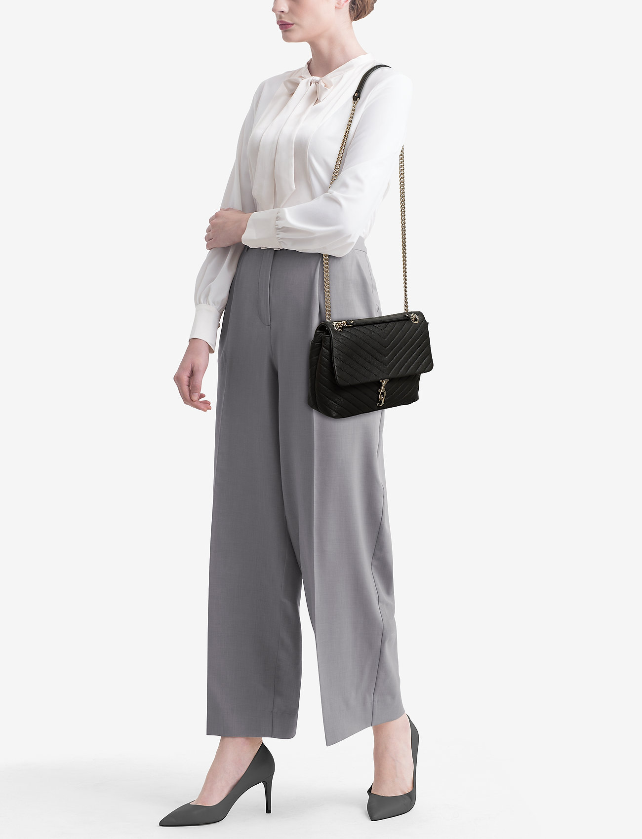 Shoulder Bag Flap Minkoff nickelRebecca Pebbleblack Edie vmNO8nw0