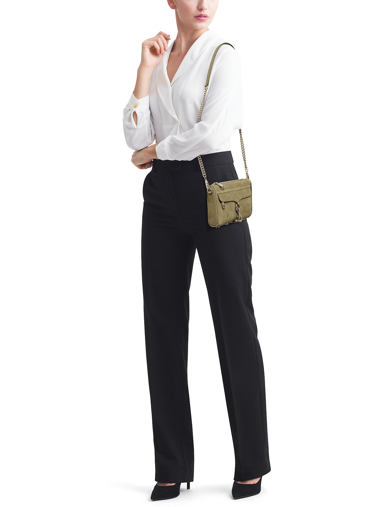 Rebecca Minkoff Mini Mac Nubuck  With The Strap In Leather - 028 THYME